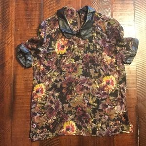 JACK Floral See Through Top Sz XS